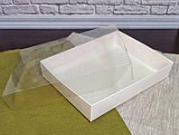 Коробка для пряника  200*150*35 з прозорою кришкою ПВХ Біла