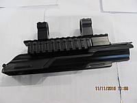 Крышка ствольной коробки для АК, для крепления оптики, с кольцами и боковой планкой вивера, фото 1