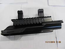 Крышка ствольной коробки для АК, для крепления оптики, с кольцами и боковой планкой вивера