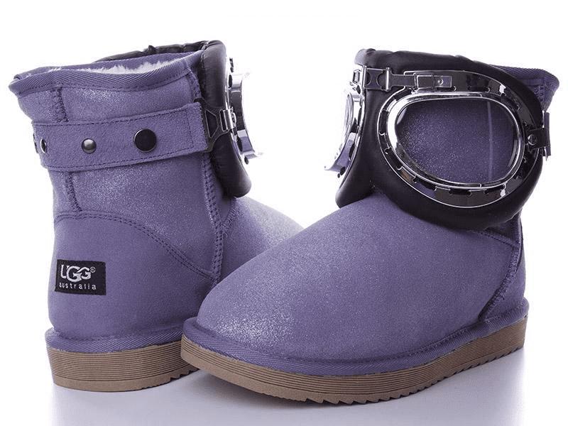 Угги женские зимние Violeta фиолетовые