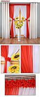 Готовые шторы Софт на люверсах с тюлью