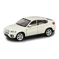 Машина BMW X6 1:24 WELLY, белый, фото 1