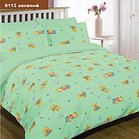 Комплект постельного белья детский ранфорс 6112 зеленый ТМ Вилюта