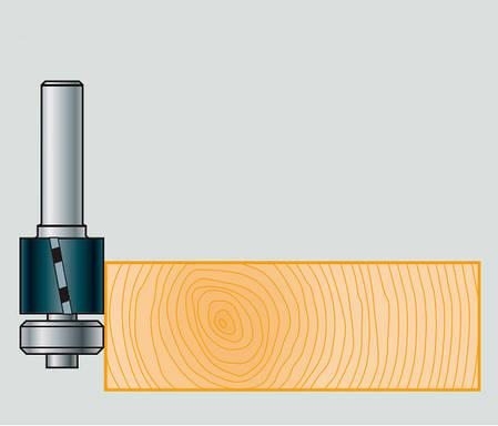 12,7х25х70х8 z=3 Фреза Stehle для ручного фрезера для обработки кромки с нижним подшипником, фото 2