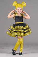 Детский карнавальный костюм Пчелка детский на рост 90-104, 104-110,  110-116, 116-122 см