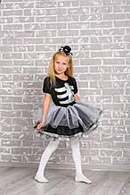 Детский карнавальный костюм Скелет для девочки на рост 116-125 см