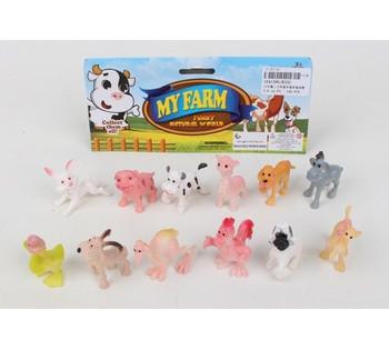 Животные K532 (1641396)  мультяшные, 12 штук в пакете 5*2*3 см