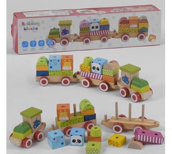Деревянный Поезд  в коробке