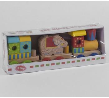 Деревянный Поезд  в коробке C