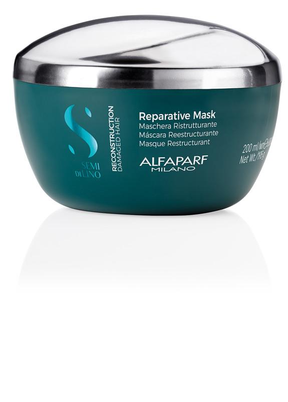 Маска Alfaparf Reconstruction Semi di Lino Reparative mask для пошкодженого волосся 200 мл