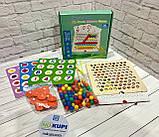 """Деревянная мозаика """"Clip Beads Memory Game"""" 2 в 1 игра на память, мозаика с трафаретами, в коробке WD2701, фото 2"""