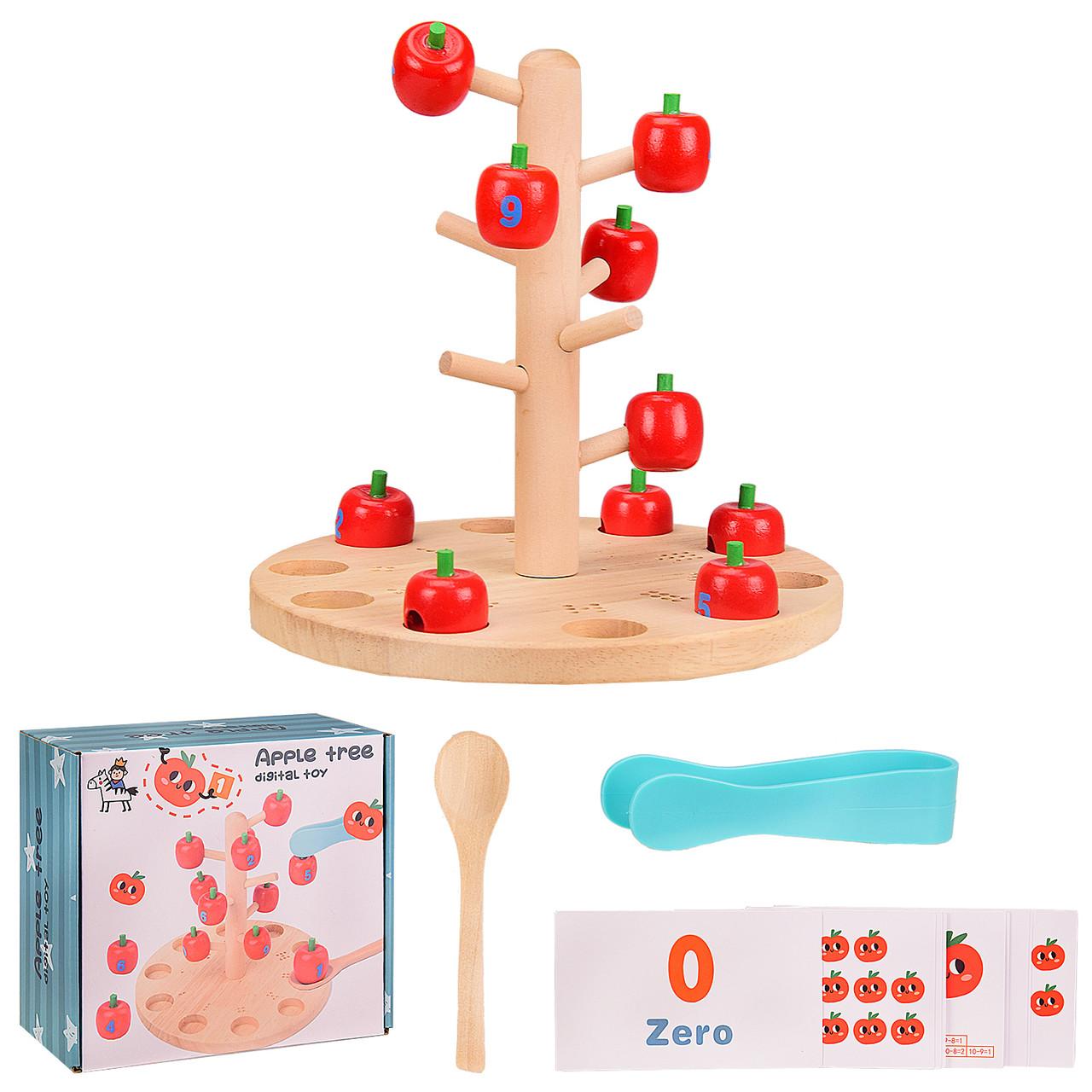 """Деревянная игрушка """"Apple Tree"""" обучающее дерево, в коробке WD2710"""
