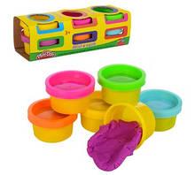 Пластилин 6 цветов (баночка с крышкой), ароматизированный, в коробке 16-5,5-5 см