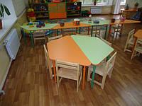 Столик детский трапеция, регулируемый