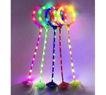Нейроскакалка светящаяся на одну ногу 5 цветов