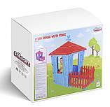 Игровой домик с оградой Pilsan Stone 06-443  СИРЕНЕВО-ЛИЛОВЫЙ, фото 2