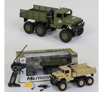 Машина военная MILITARY TRACK на радиоуправлении  2 цвета, аккумулятор 3.6V, свет фар, в коробке  XB 1002
