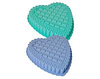 Форма силиконовая для выпечки Сердечко 25*22,5*3,5 см