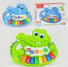 """Пианино Крокодильчик """"Animals Keyboard"""" подсветка, мелодии, звуки животных, 2 цвета, в коробке MTK 011"""