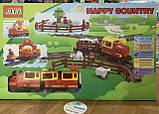 """Конструктор JIXIN """"Веселая страна"""" Happy Country + железная дорога 6188 A, фото 2"""