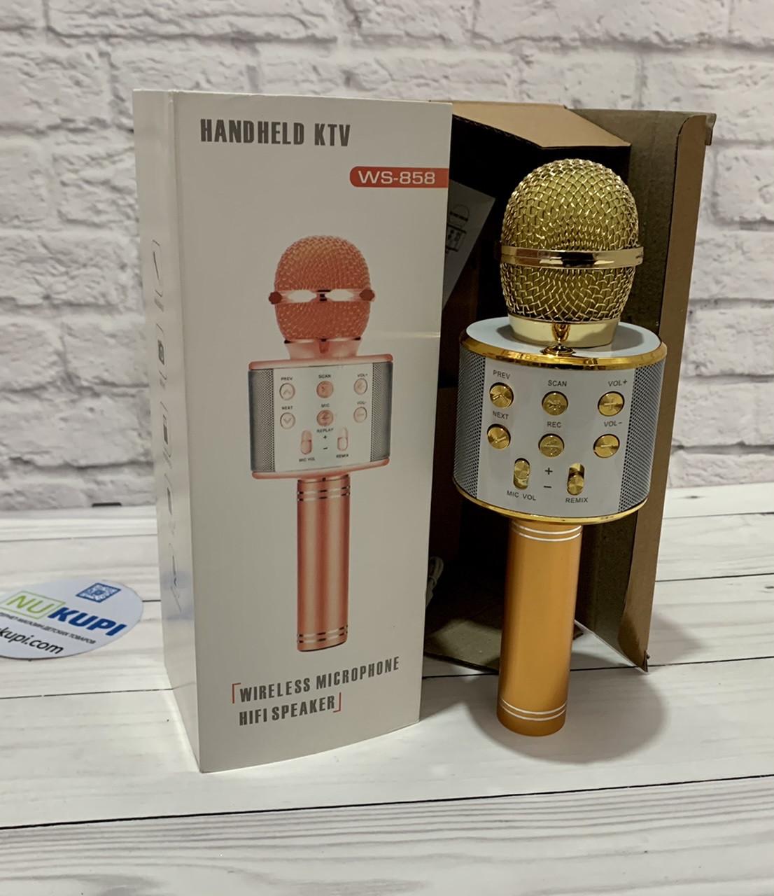 Дитячий мікрофон WS-858 Караоке USB зарядний