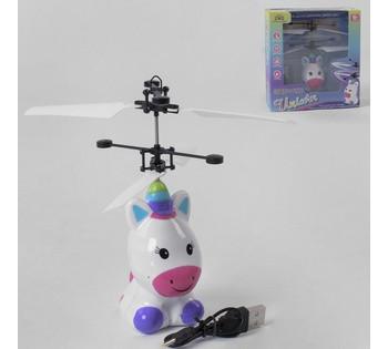 Летающая Пони 1382 сенсорное управление, аккумулятор., зарядка USB, подсветка, в коробке