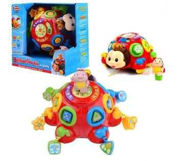 """Музыкальная развивающая игрушка A-Toys  музыкальный жук """"Волшебный Ларец"""" музыка, свет, мелодии, звуки природы"""