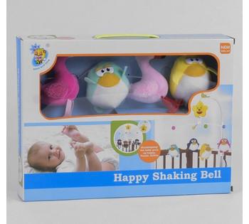 Карусель заводная *Птички* мягкие подвески, в коробке