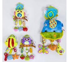 Погремушка-подвеска мягкая  BIMBO , музыка ветра, шелестящие элементы, пищалка, 4 вида, в кульке