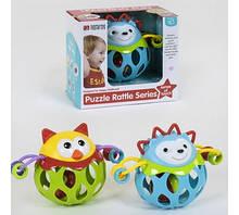 М'яч-брязкальце Puzzle Rattle Series для самих маленьких, 2 види 35789 АВ