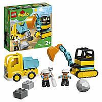 Конструктор LEGO DUPLO Грузовик и гусеничный экскаватор  10931, фото 1