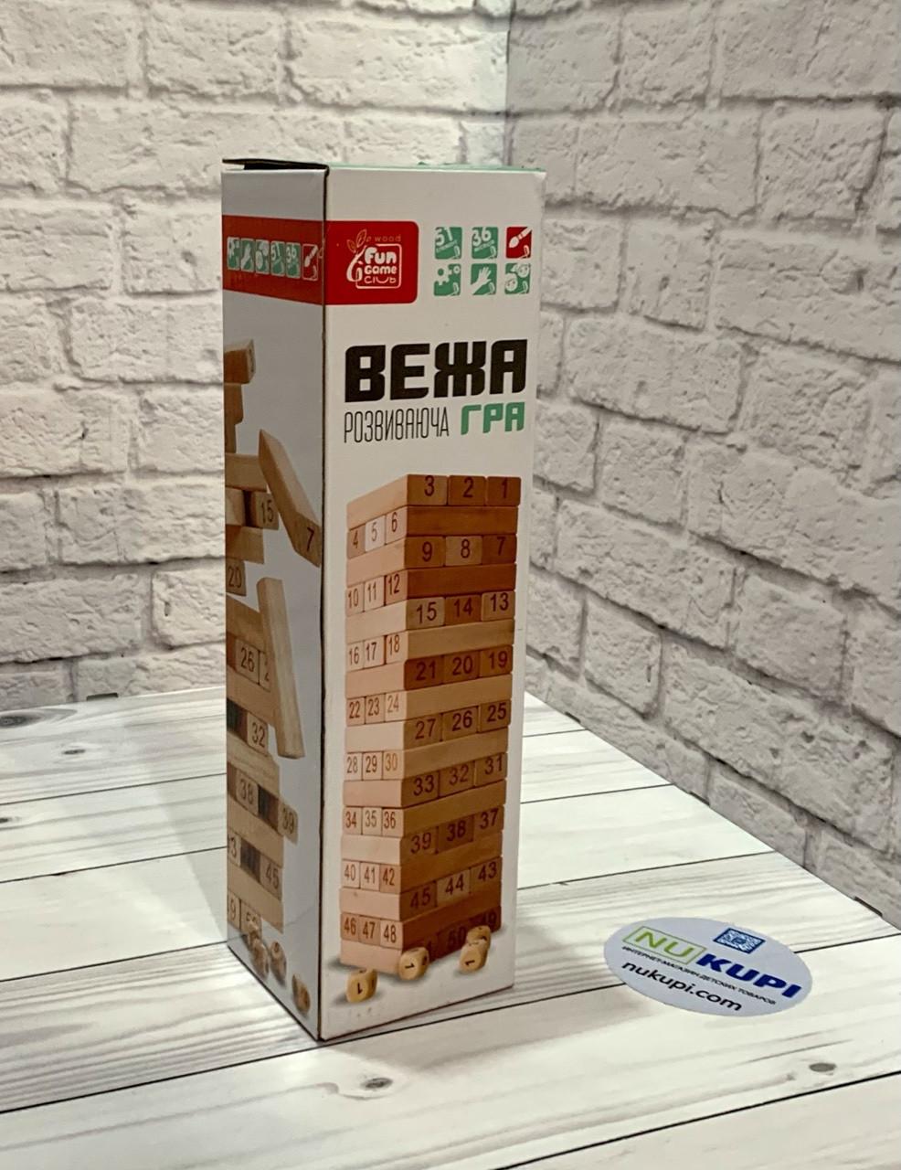 "Деревянная игра Башня ""ВЕЖА"" FUN GAME 72154"