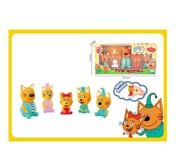 Набор персонажей из мультфильма  Три Кота , 5 фигурок