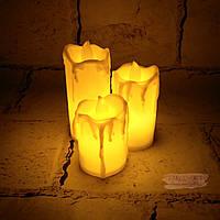 LED свечи электронные 3 шт, тёплый свет