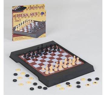 Шахматы 2 в 1, магнитные, в коробке