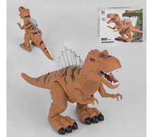 Динозавр 3353  2 цвета, ходит, свет, звук, в коробке