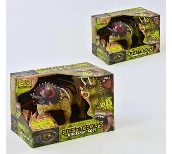 """Динозавр """"Dinosaur Ages"""" ходит, световые и звуковые эффекты, 2 вида, в коробке WS 5315"""