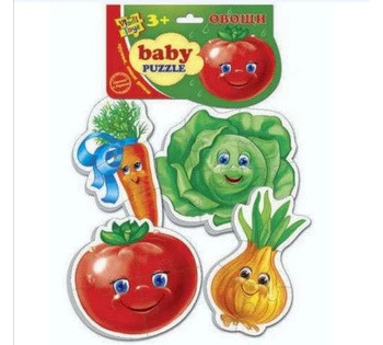 Гр Мягкие беби пазлы  Овощи