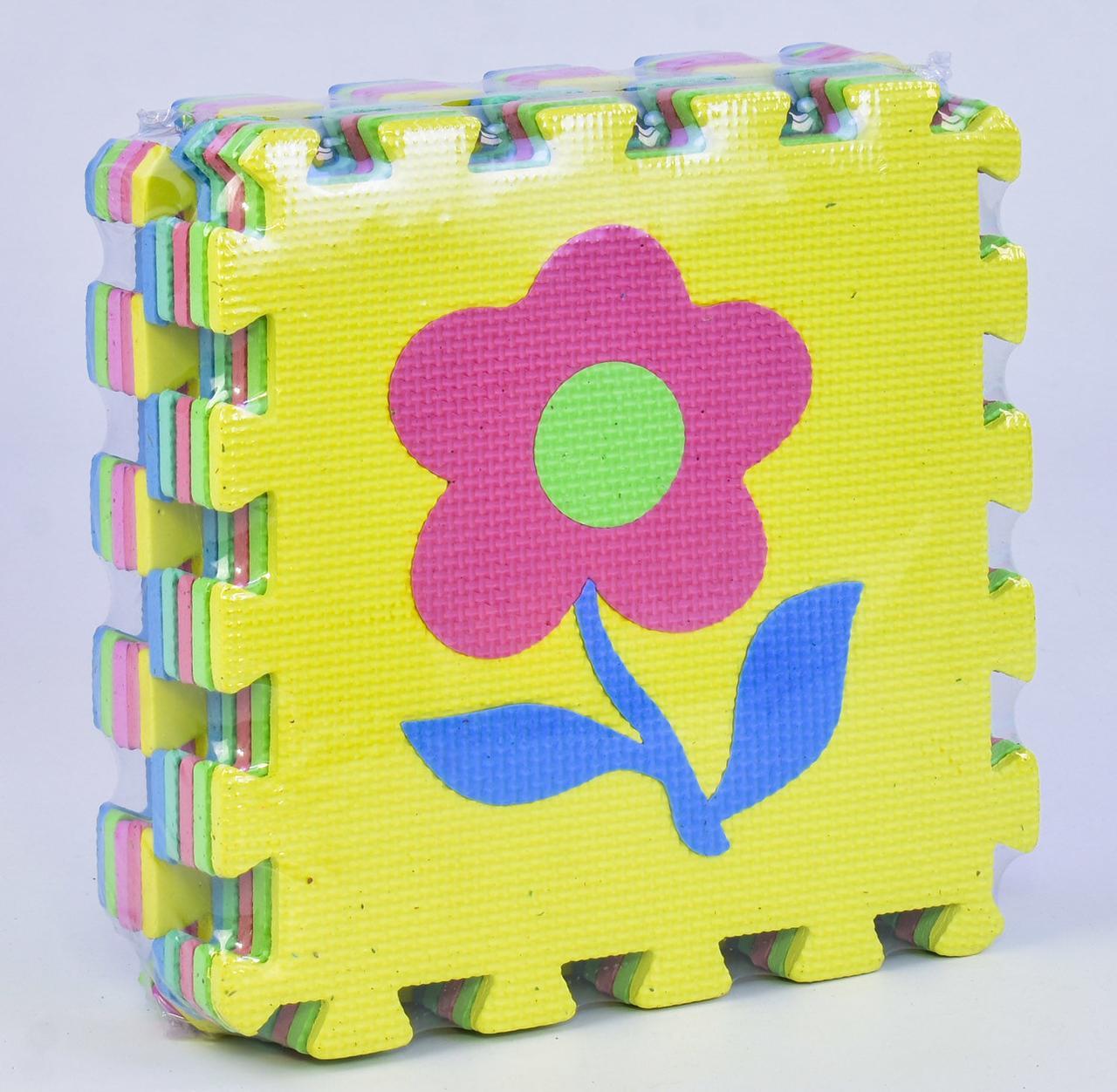 """Коврик-пазл EVA """"Цветы"""" 10 шт в упаковке, 29х29см С 36598"""