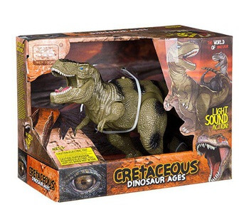 "Динозавр""Dinosaur Ages"" Тиранозавр 2 вида, ходит, двигается рот, на батарейках, в коробке WS 5316"