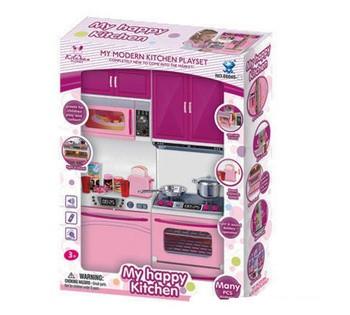 """Детский игровой набор Кухня """"My Happy Kitchen"""" плита со звуком и подсветкой 66045-3"""