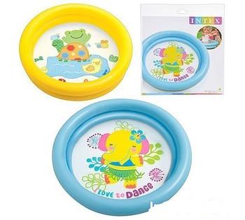 Детский надувной бассейн Intex 59409, 4 цвета, фиолетовые, 61 х 15 см