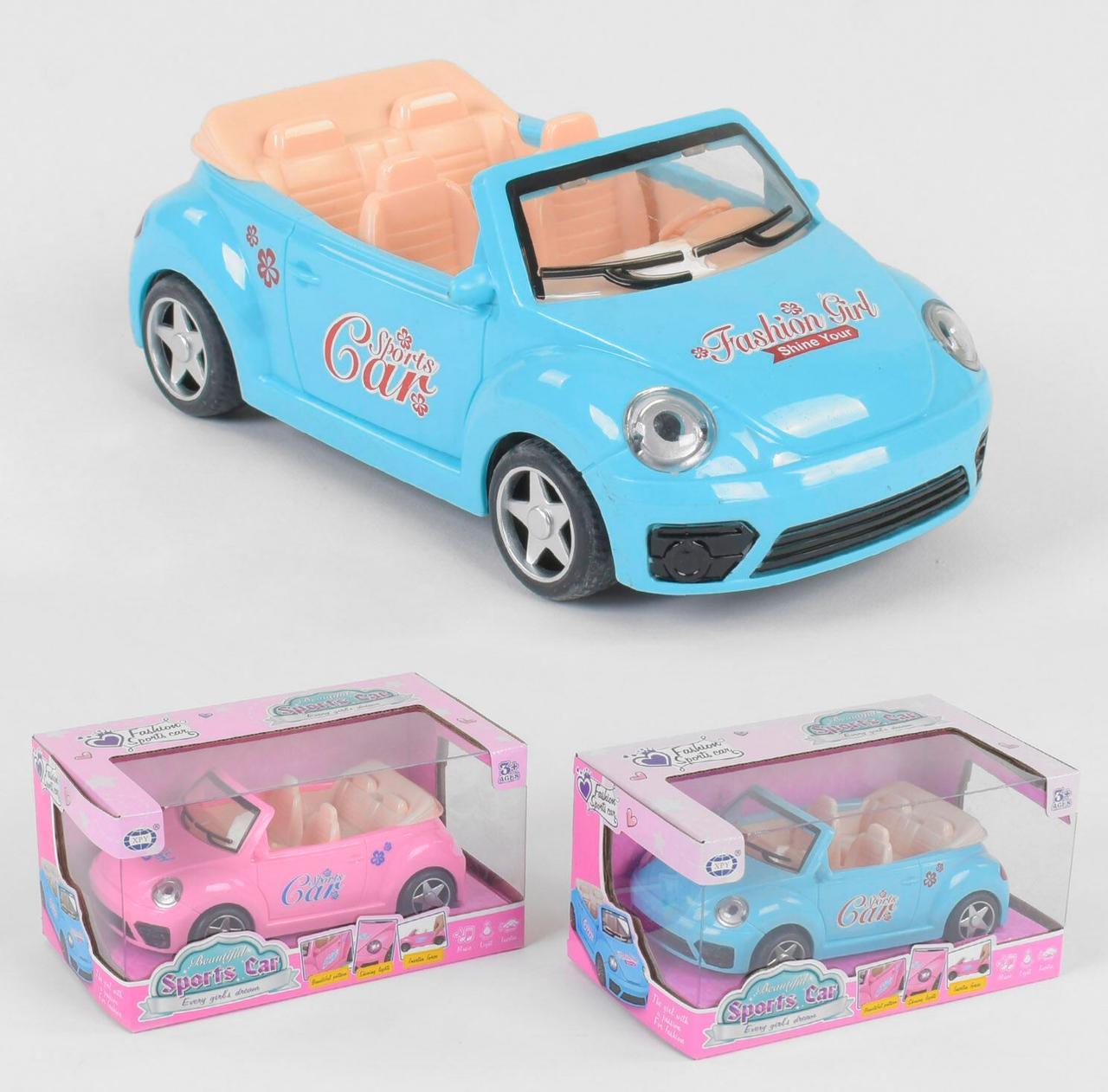 "Машинка для куклы ""Sports Car"" 2 цвета, свет, звук, в коробке ST 66-36"