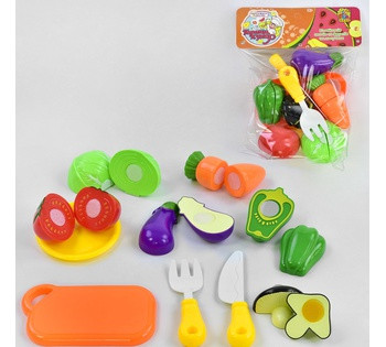 "Овощи ""Гарний Кухар"" FUN GAME капуста, морковь, помидор, баклажан, грибы, перец, ложка с вилкой, разделочная"
