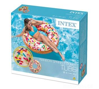 Надувной круг Intex 56263 «Пончик с присыпкой»