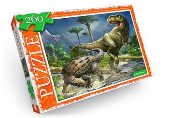"""Пазл """"Битва динозаврів"""" (260 елементів)"""