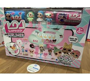 Набор ЛоЛ lol Airlaner 3 куклы 2 капсулы и более 55 сюрпризов в комплекте K 5632