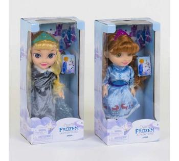 Кукла Холодное сердце Анна и Эльза 2 вида, поет песню, подсветка платья ZT 8681 C