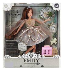 Кукла Emily с аксессуарами и питомцем щенком + переноска QJ 090 C