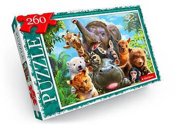 """Пазл """"Тварини в джунглях"""" (260 елементів)"""